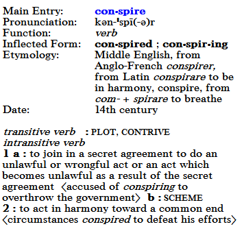 Conspire Definition